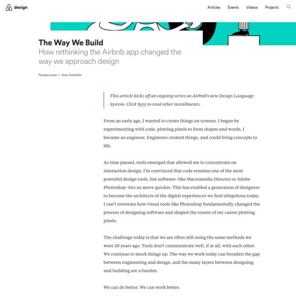 The Way We Build – Airbnb Design