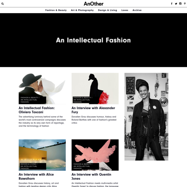 An Intellectual Fashion | AnOther