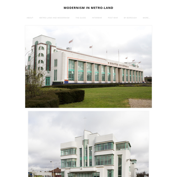 Name: Hoover Building Date: 1932-38 Architect: Wallis, Gilbert and Partners Borough: Ealing Listing: Main Building (top) Grade II* , Canteen Block (below) Grade II* Notes: The Wallis, Gilbert and...