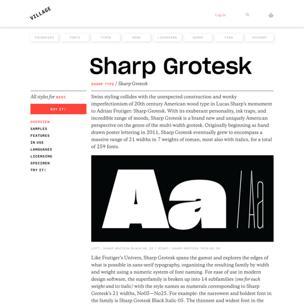 Village: Sharp Grotesk