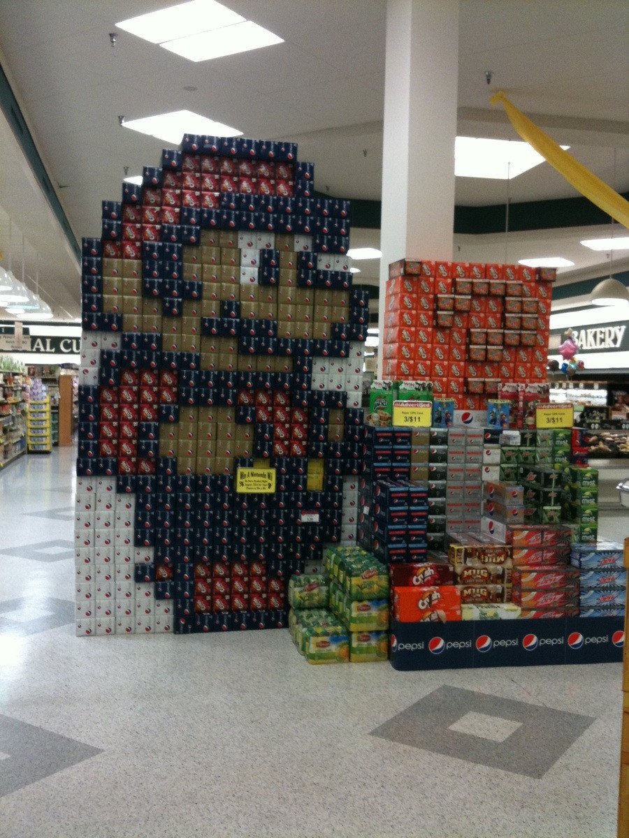 are na grocery store displays