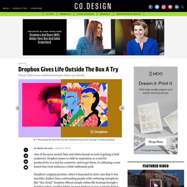 """Dropbox's original premise, when it launched in 2007, was that it was invisible. Rather than confounding people with confusing metaphors like """"the cloud,"""" Dropbox offered simple online file hosting through a familiar token: another folder on your desktop. It was a simple digital box to store your digital crap."""