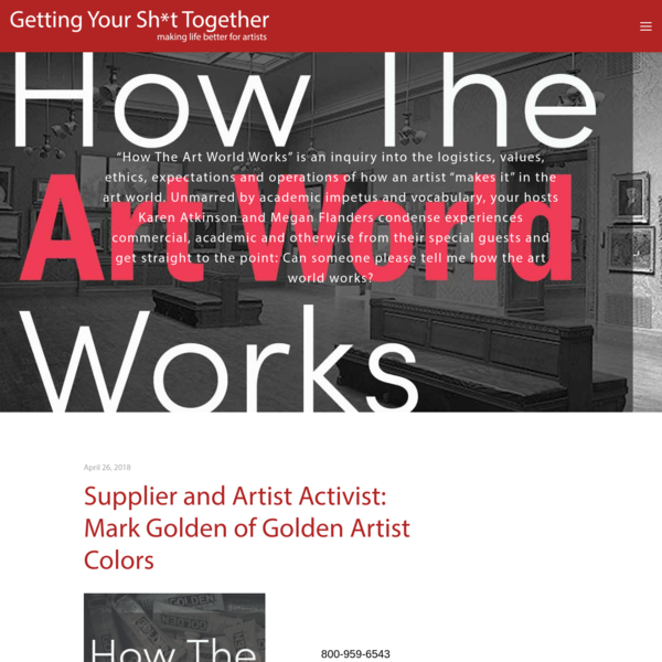 """""""How The Art World Works"""" is an inquiry into the logistics, values, ethics, expectations and operations of how an artist """"makes it"""" in the art world. Unmarred by academic impetus and vocabulary, your hosts Karen Atkinson and Megan Flanders condense experiences commercial, academic and otherwise from"""