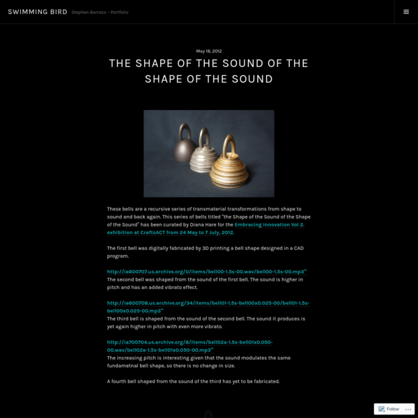 The Shape of the Sound of the Shape of the Sound