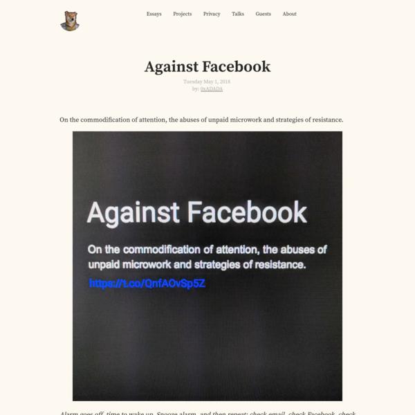 Against Facebook