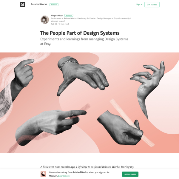 The People Part of Design Systems - Related Works - Medium