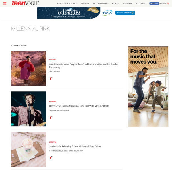 Get the latest on millennial pink from Teen Vogue. Find articles, slideshows and more.