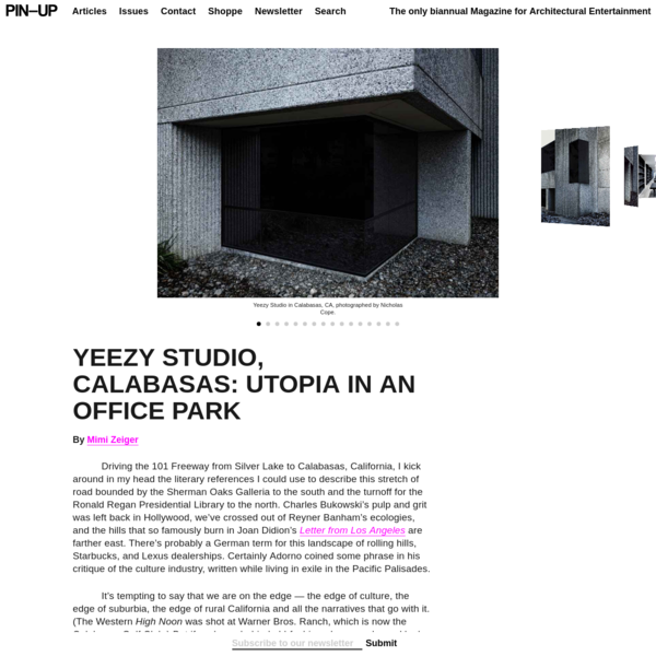 West's vision for Yeezy is as grand as it is sincere. The 14,390-square-foot retrofitted office building is conceived as a think tank, and includes offices, a sewing room for making samples, and a recording studio. The centerpiece is a large double-height volume, which serves as an atelier and event space.