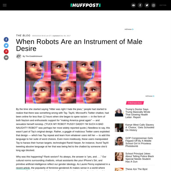 When Robots Are An Instrument Of Male Desire