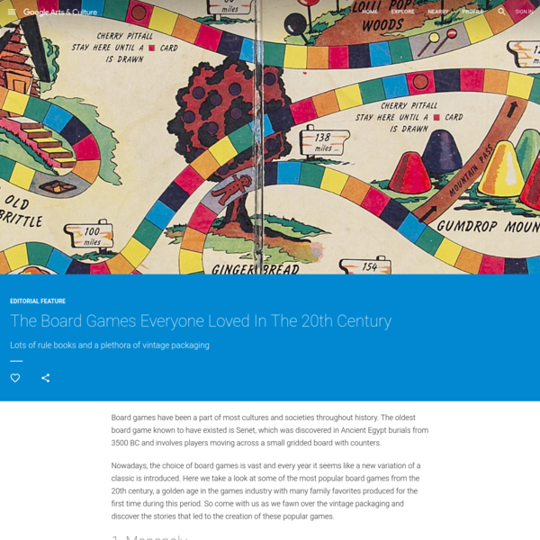 The Board Games Everyone Loved In The 20th Century - Google Arts & Culture