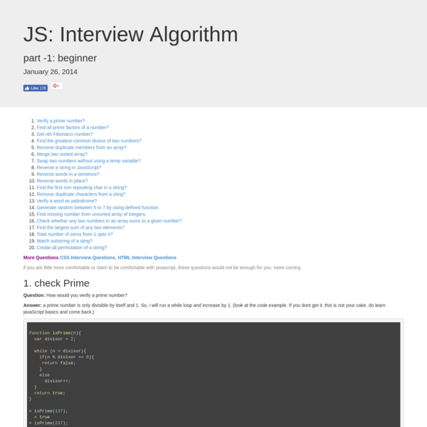 javascript interview questions, front end interview questions, javascript interview, algorithm in javascript, javascript interview materials, javascript interview preparation