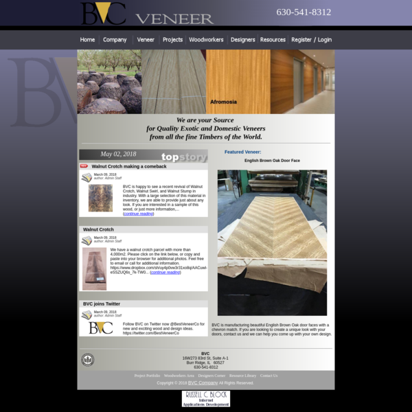 BVC Veneer - manufacturer distributor supplier offering wood veneers
