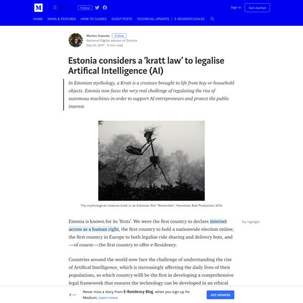 Estonia considers a 'kratt law' to legalise Artifical Intelligence (AI)