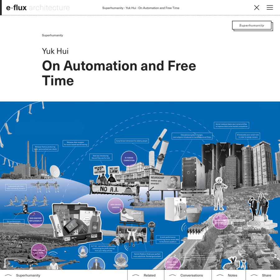 """In """"Fragment on Machines,"""" Marx made the case that with investment in automated technology, which he called fixed capital, capitalism is able to reduce necessary labor time and increase both surplus labor and value. Marx then speaks of the possibility of sublating surplus labor to free time, which he understood as """"both idle time and time for higher activity."""""""