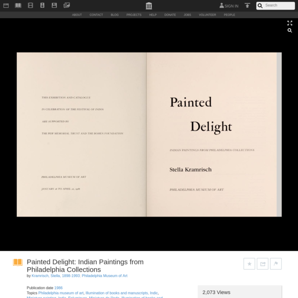 Painted Delight: Indian Paintings from Philadelphia Collections : Kramrisch, Stella, 1898-1993 : Free Download, Borro...