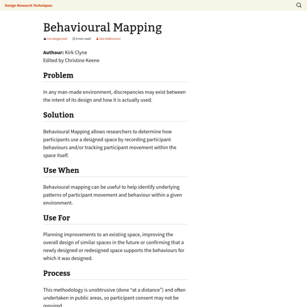 Behavioural Mapping