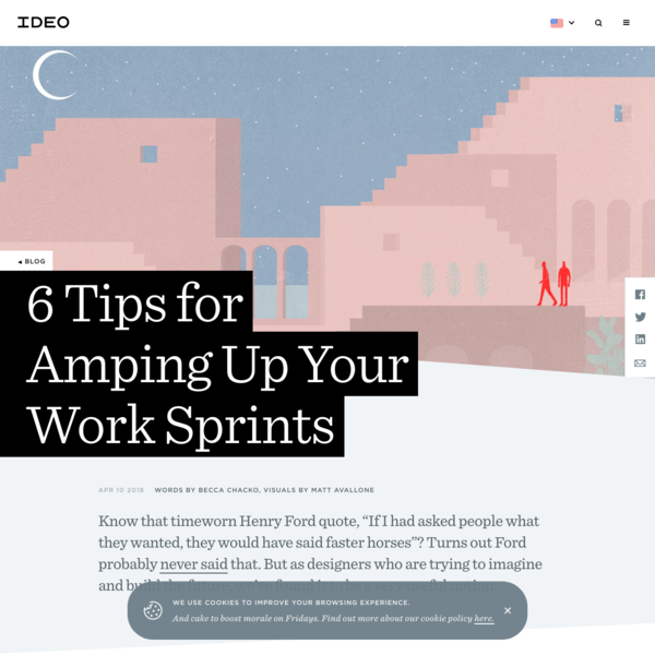 6 Tips for Amping Up Your Work Sprints