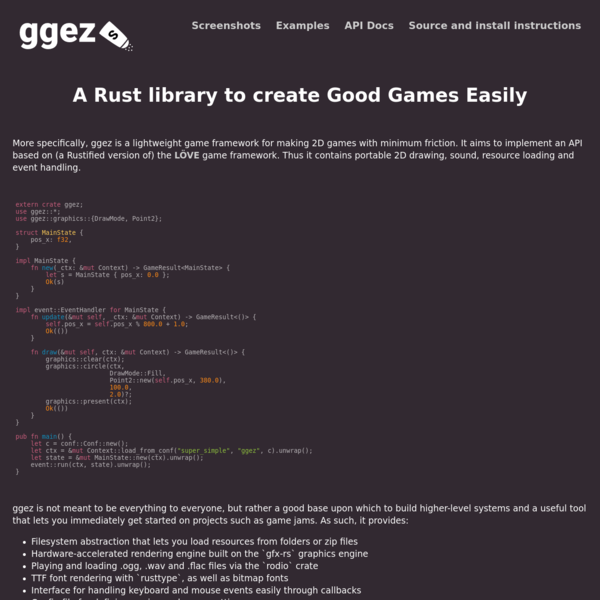 ggez: Rust game thing