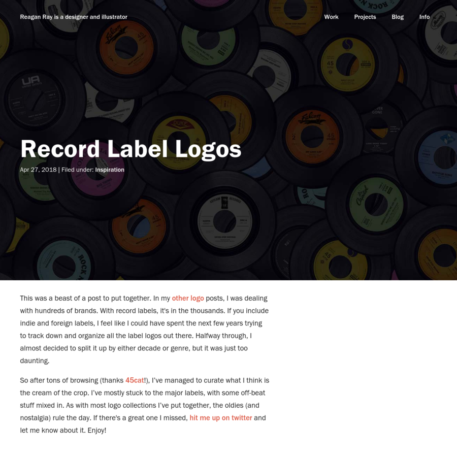 This was a beast of a post to put together. In my other logo posts, I was dealing with hundreds of brands. With record labels, it's in the thousands. If you ...