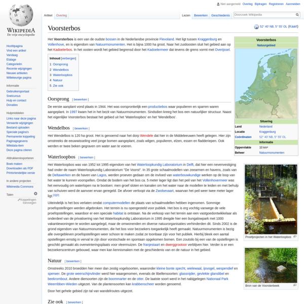 Het Voorsterbos is een van de oudste bossen in de Nederlandse provincie Flevoland. Het ligt tussen Kraggenburg en Vollenhove, en is eigendom van Natuurmonumenten. Het is bijna 1000 ha groot. Naar het zuidoosten sluit het gebied aan op het Kadoelerbos. In het oosten wordt het gebied begrensd door het Kadoelermeer dat tevens de grens vormt met Overijssel.