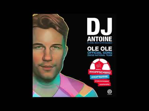 """Full """"Hopp Schwiiz"""" version of DJ Antoine's Ole Ole - the official Football World Cup Song for Switzerland. Live performance & presentation of the song will be on June 08th in the Football Stadium of Lugano, Switzerland with DJ Antoine, Karl Wolf and Fito Blanko."""