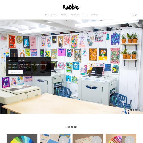 Risolve Studio | Risograph Design Studio and Printshop