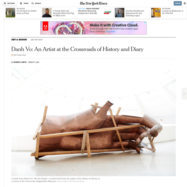 The work of the Danish-Vietnamese artist Danh Vo operates at the intersection of art, global history and personal diary, that is, his own life as a gay man and as an émigré whose family's existence was radically disrupted by the war in Vietnam. Artist is perhaps not quite the right word.