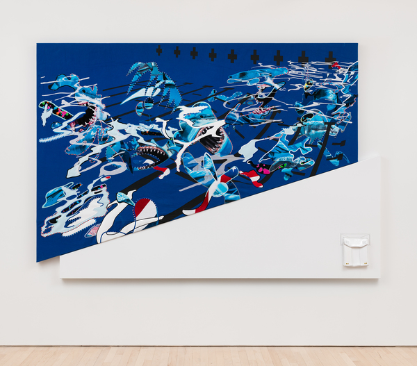 2018.04 Borna Sammak: Hey You're Part Of It, Not Yet Titled (Shark Painting), 2018