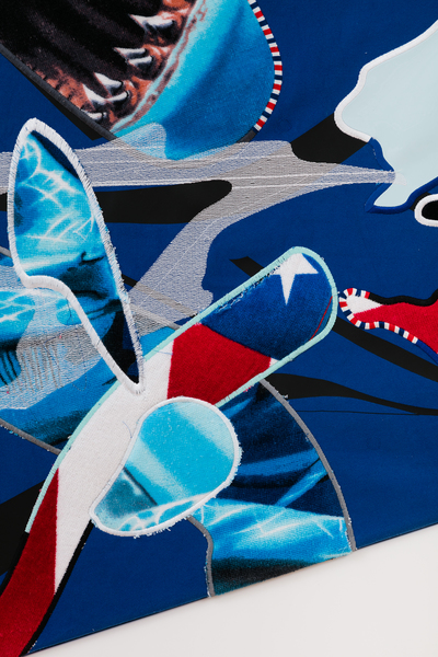 2018.04 Borna Sammak: Hey You're Part Of It, Not Yet Titled (Shark Painting)(detail), 2018