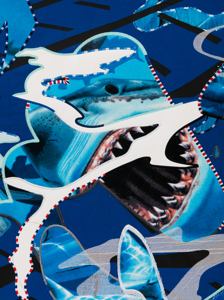 Borna Sammak, Not Yet Titled (Shark Painting)(detail), 2018
