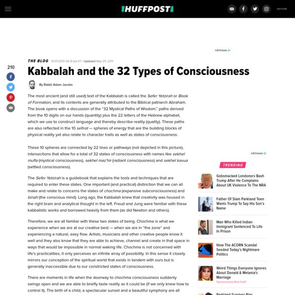Kabbalah And The 32 Types Of Consciousness