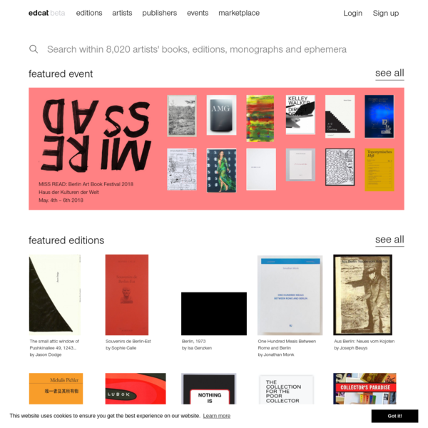 Browse artists' publications, discover limited editions, artists' books, prints, monographs, and ephemera.