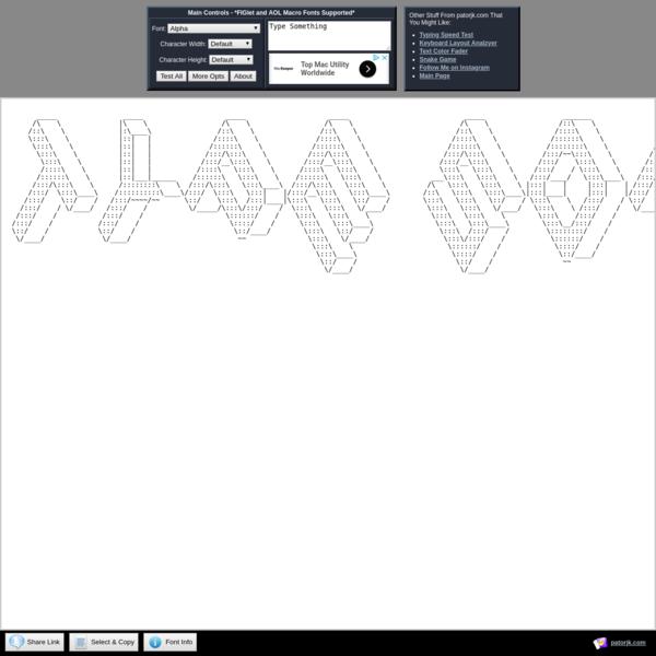 Text to ASCII Art Generator (TAAG)