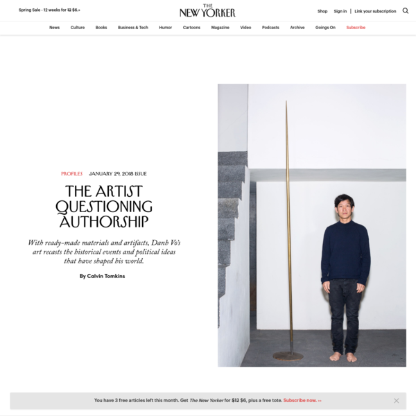 Danh Vo had just started to gain recognition as a rising young artist when he decided, in 2010, to make a full-scale replica of the Statue of Liberty. He had been offered a one-man show at the Fridericianum, a huge exhibition space in Kassel, Germany.