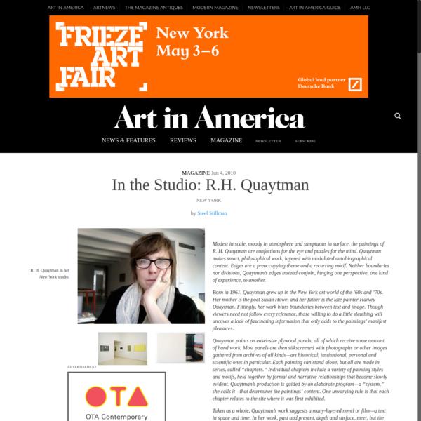 In the Studio: R.H. Quaytman - Art in America