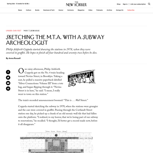 """One rainy afternoon, Philip Ashforth Coppola got on the No. 4 train heading toward Nevins Street, in Brooklyn. Taking a seat, he pulled a massive paperback labelled """"Silver Connections: Volume III"""" from a tote bag, and began flipping through it. """"Nevins Street is in here,"""" he said."""