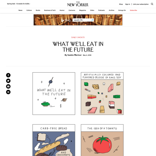 What We'll Eat in the Future