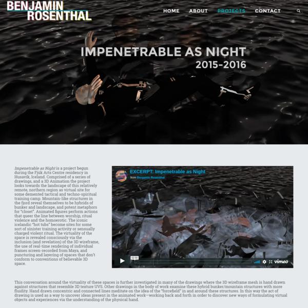 Impenetrable as Night - Benjamin Rosenthal