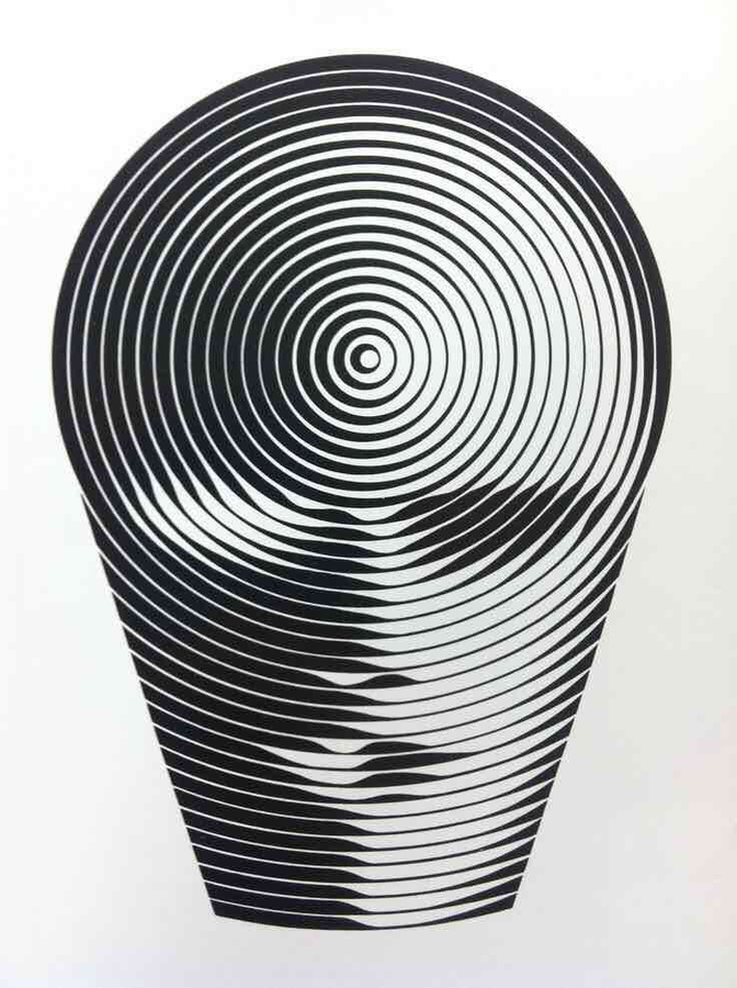UNESCO symbol for International Education Year, 1970 by Victor Vasarely