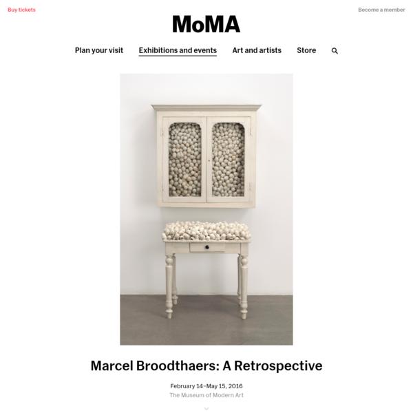 Marcel Broodthaers: A Retrospective | MoMA