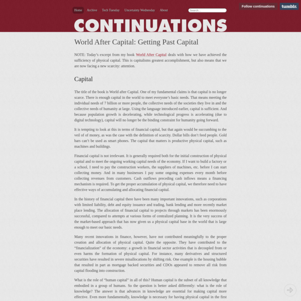 Continuations by Albert Wenger