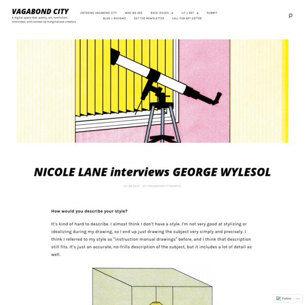 15032220bc How would you describe your style  It s kind of hard to describe. I almost. NICOLE  LANE interviews GEORGE WYLESOL
