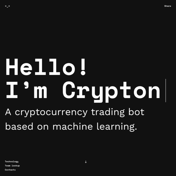 I analyze thousands of trading transactions and reveal patterns using my machine learning algorithms. Then I predict changes in certain points and signal to sell or buy currency.