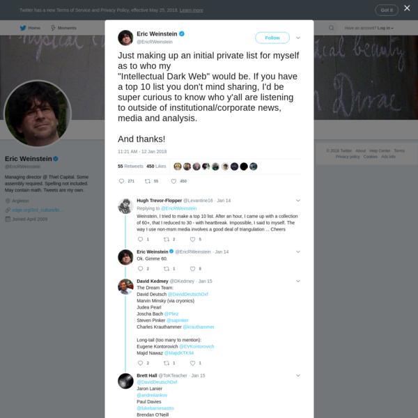Eric Weinstein on Twitter