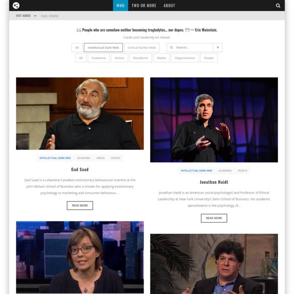 The Intellectual Dark Web(site)