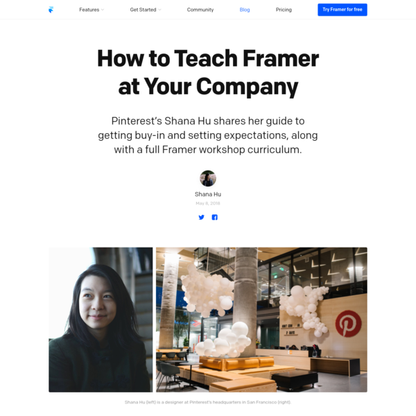 An exhaustive guide on getting buy-in and setting expectations, along with a full Framer workshop curriculum.