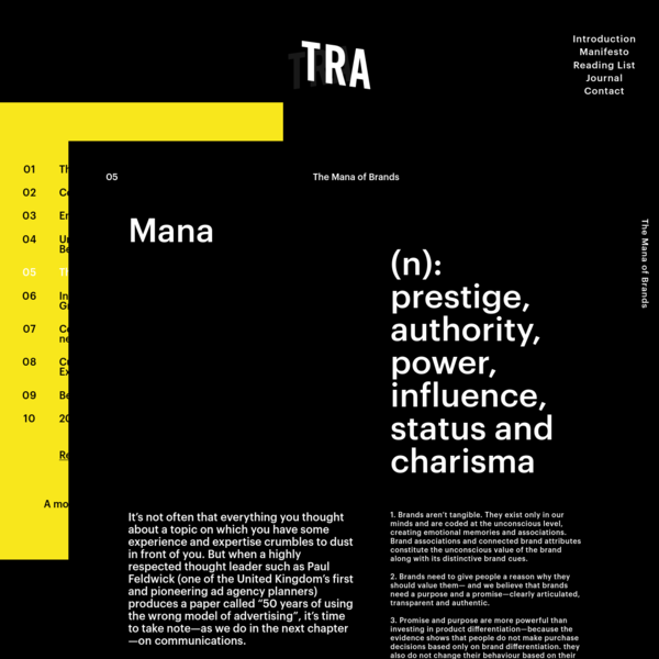 The Mana of Brands | TRA