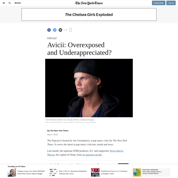 Avicii: Overexposed and Underappreciated?