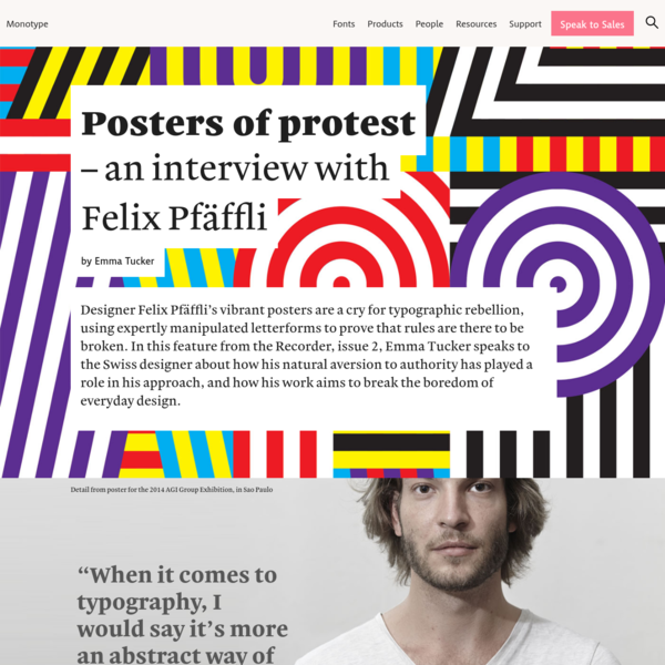 Posters of protest – an interview with Felix Pfäffli | Monotype