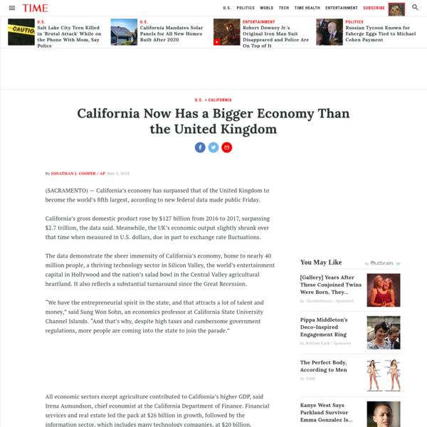 California Now Has a Bigger Economy than the United Kingdom